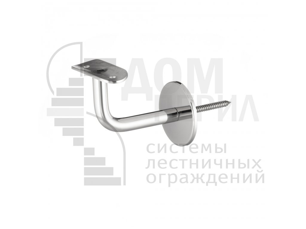 Пристенный кронштейн-шуруп с ложементом под трубу ∅50,8 мм