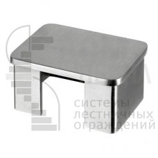 Заглушка для поручня с пазом 40х60 мм, полированная AISI 304