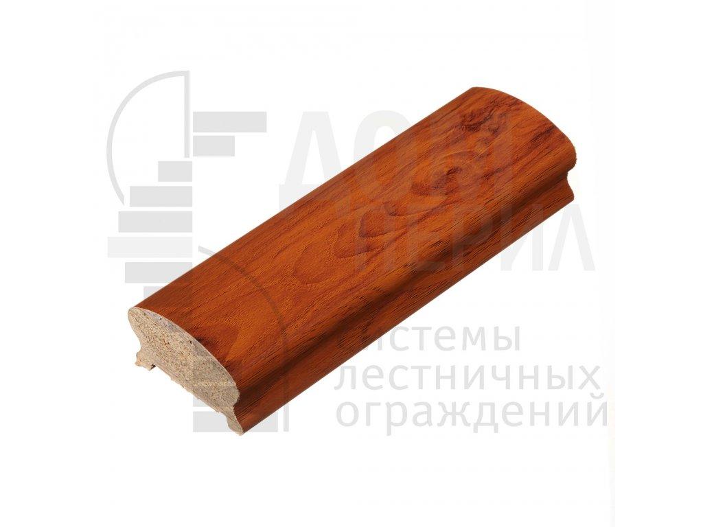 Поручень ПВХ фигурный (цвет Тик текстурный) - 1 п.м.