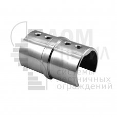 Соединитель для трубы Ø48.3 мм с пазом 27х30 мм полированный AISI 304
