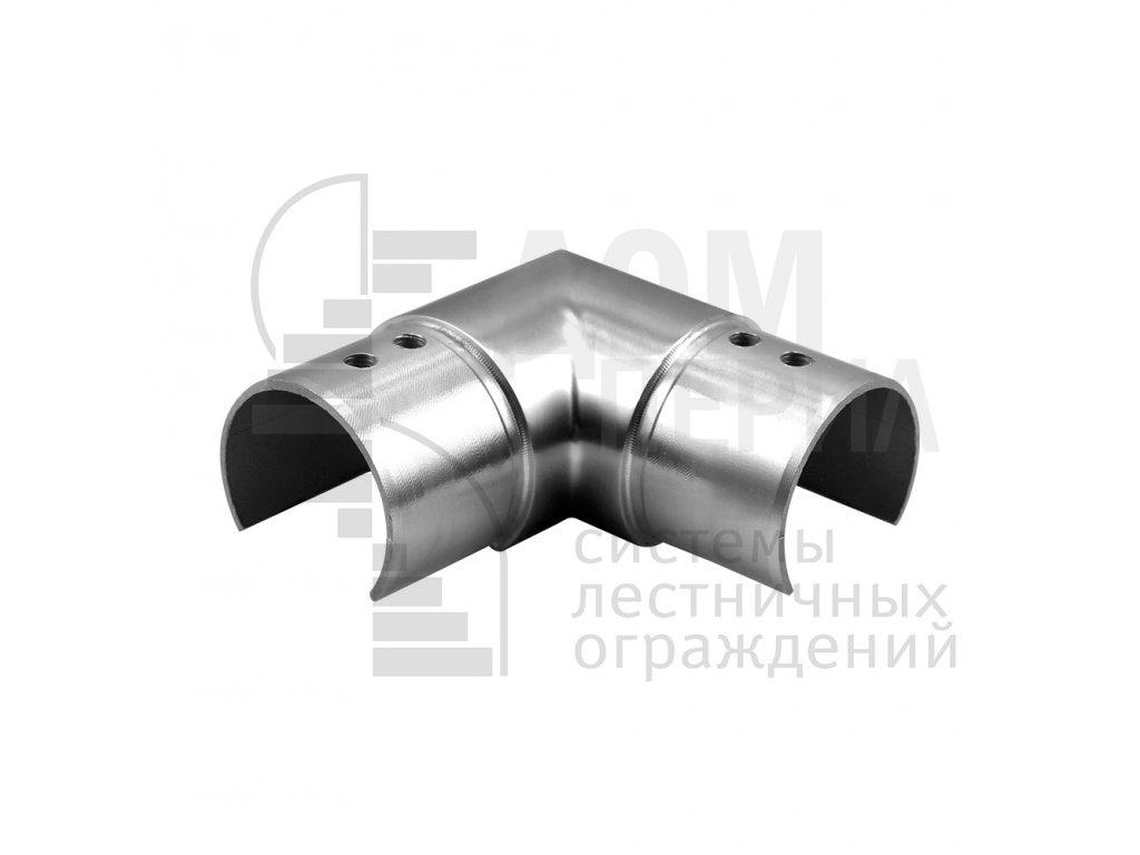 Поворот для трубы Ø48.3 мм с пазом 27х30 мм полированный AISI 304