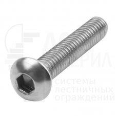 Винт полукр/гл внутр/шестигр ISO 7380-1 А2 M 8X20/20 (200)