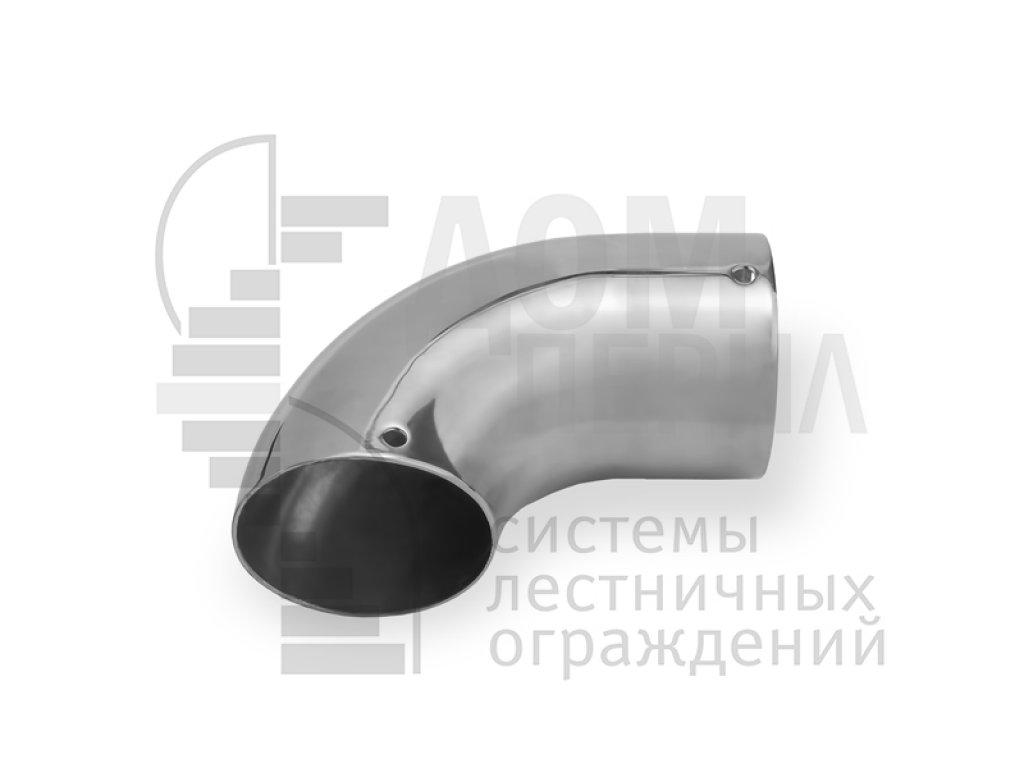 Отвод для поручня ПВХ ∅50 мм (AISI 201)