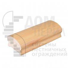 Поручень ПВХ фигурный (цвет светлый бук) - 1 п.м.