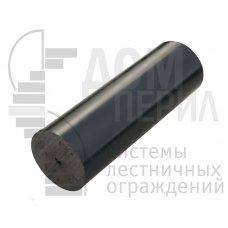 Поручень пластиковый из ПВХ (цвет черный) - 1 п.м.