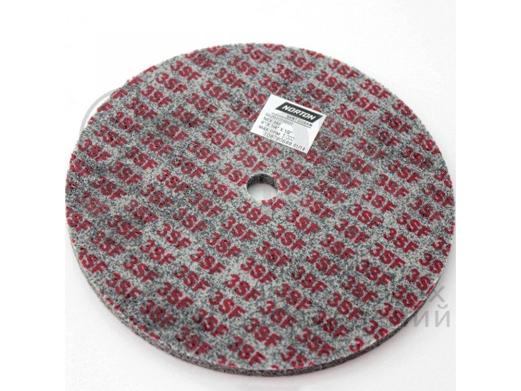 Нетканый прессованный круг 150х6х12, 3SFU4401