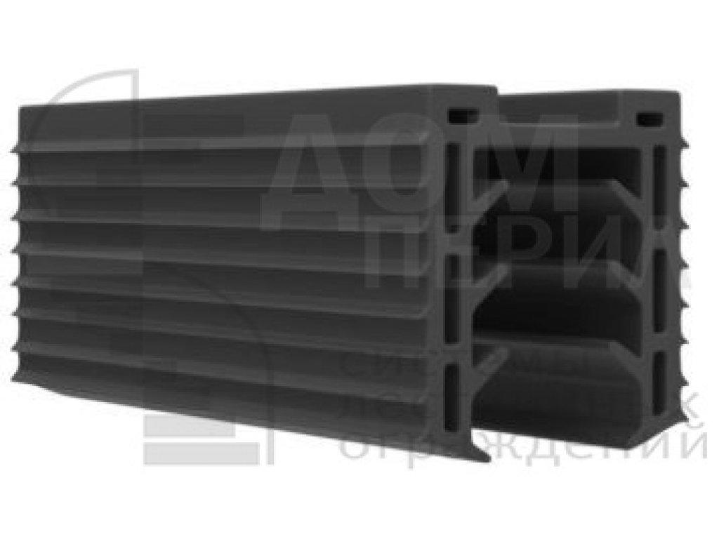 Уплотнитель в поручень с пазом 24х24 для стекла 16 мм, EPDM (палки 3 м), цена указана за 1 метр