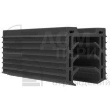 Уплотнитель в поручень с пазом 24х24 для стекла 12 мм, EPDM (палки 3 м), цена указана за 1 метр