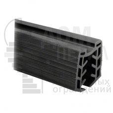 Уплотнитель в поручень с пазом 27х30 для стекла 12 мм, EPDM (хлыст по 3 м), цена указана за 1 метр