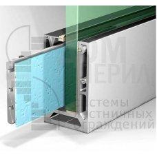 Комплект алюминиевого зажимного (анод) профилядлястеклянных ограждений – ПA-106