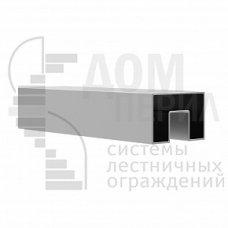 Труба, 40х60 мм, с пазом 24х24 мм под стекло, полированная, AISI 201