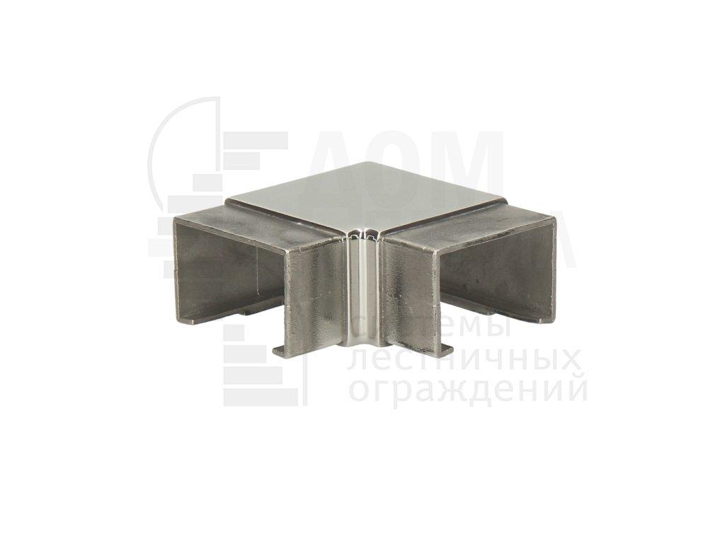 Отвод для поручня с пазом 40х60 мм (полированный, AISI 304)