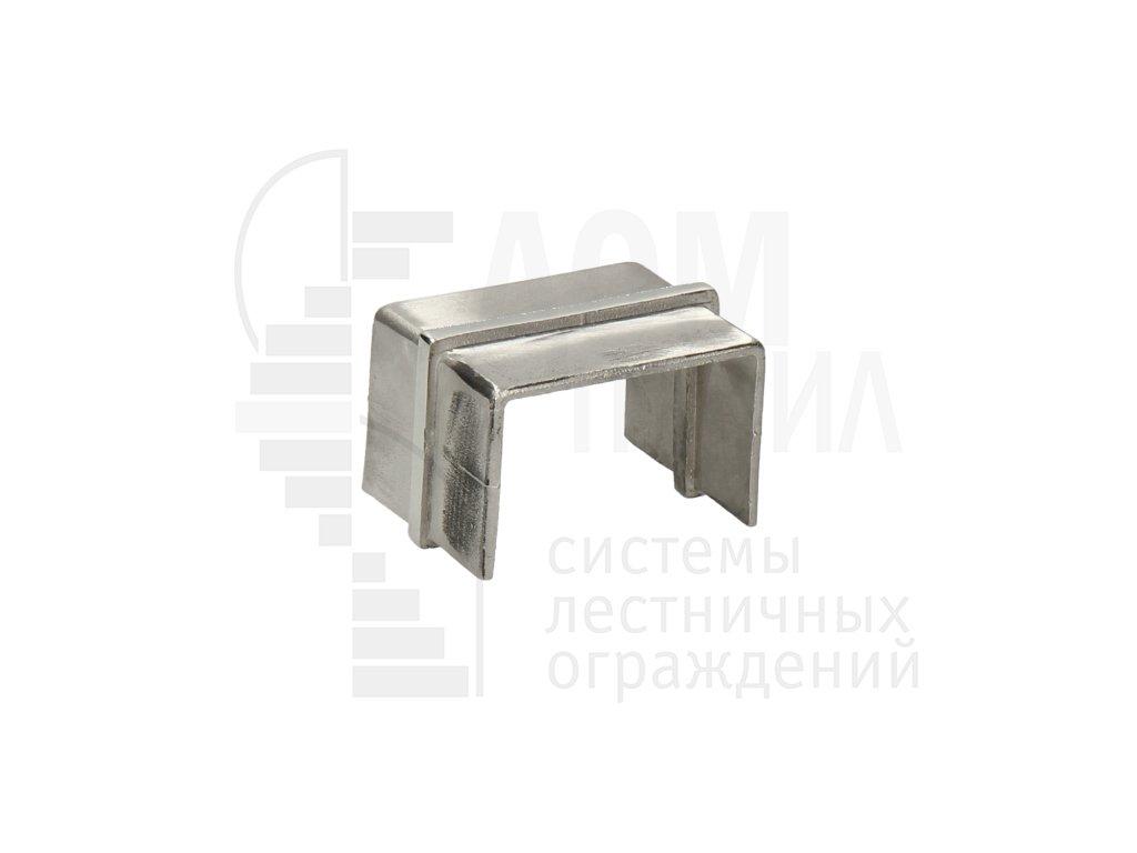 Соединитель для поручня с пазом 40х60 мм полированный AISI 304