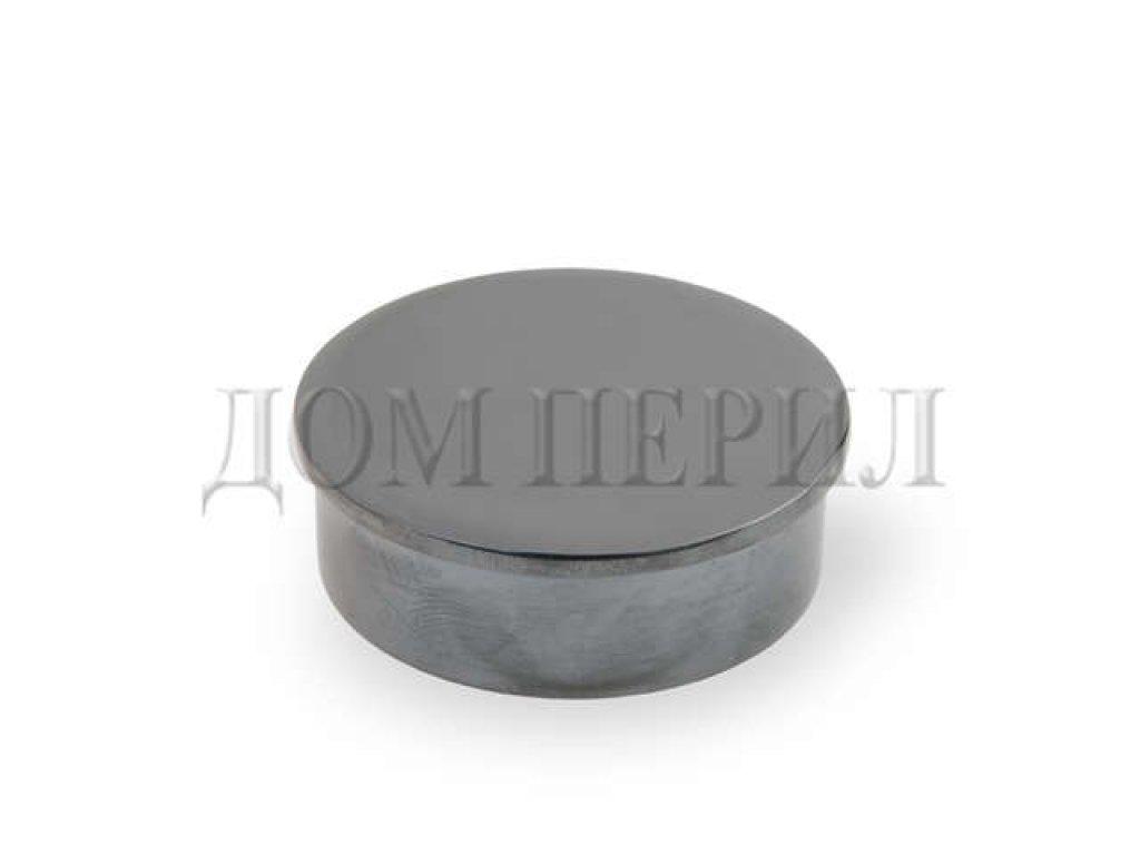 Заглушка плоская под поручень ∅38 мм (черный хром)