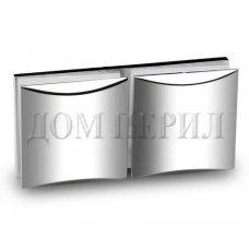 Коннектор стекло-стекло 180 хром