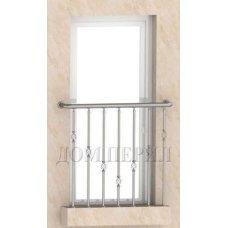 Ограждение французского балкона (вариант №1) арт.ОГ с ДВ №21