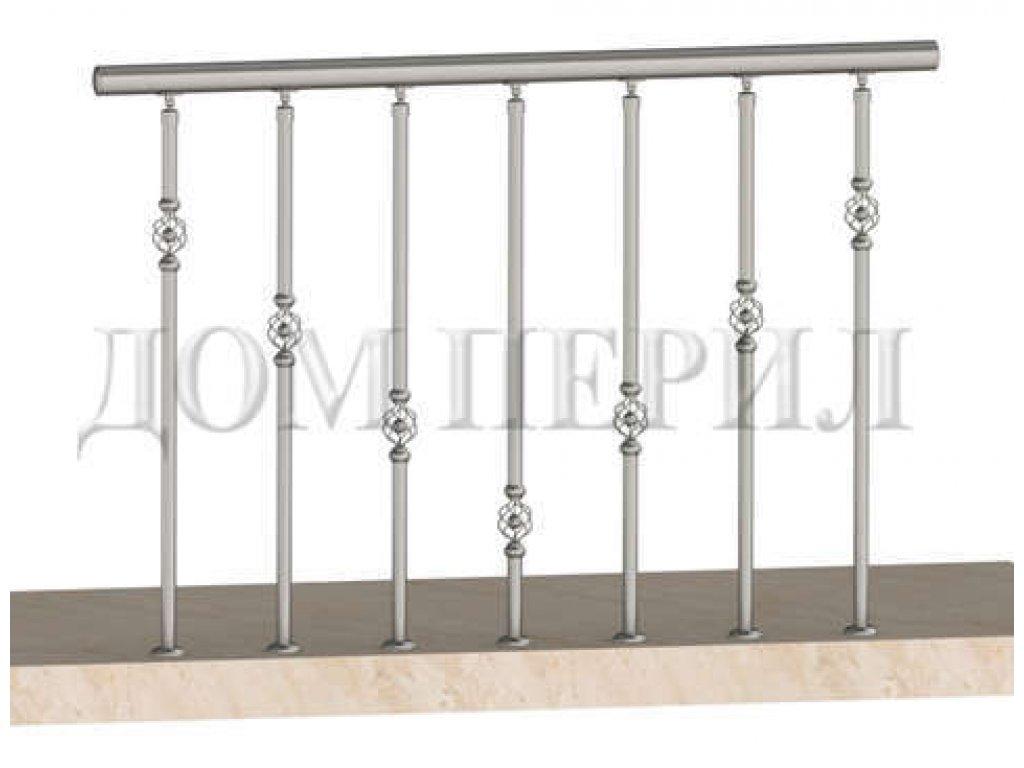 Ограждение балконов с декоративными вставками в стойках (вар 1)