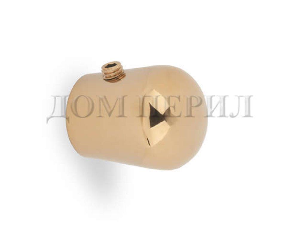"""Заглушка """"КАПЛЯ"""" под поручень Ø16 мм (золото)"""