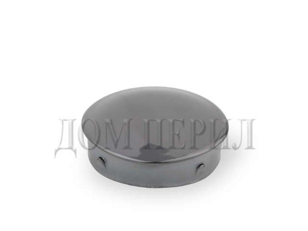 Заглушка под поручень ∅38 мм (черный хром)