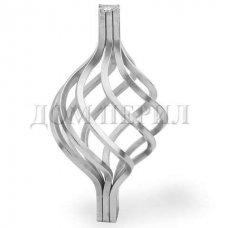 Декоративная вертикальная вставка (корзинка) в стойку ∅25 мм