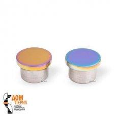 Заглушка плоская под ригель ∅12 мм (цветной перламутр)