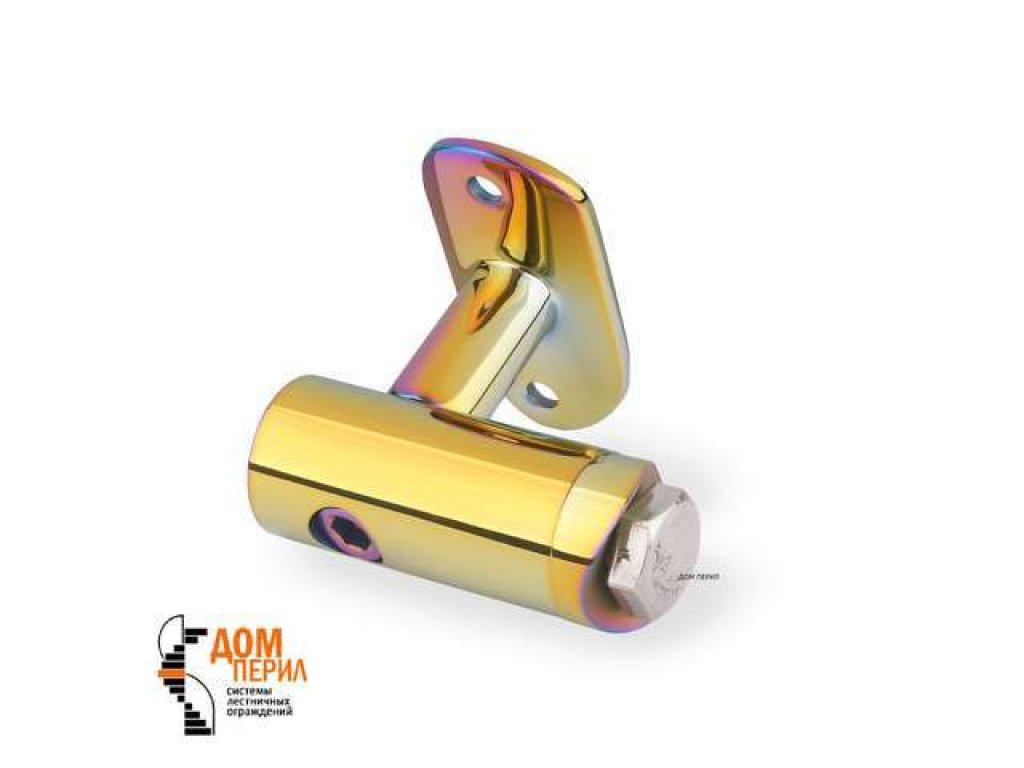 Кронштейн боковой с ложементом для стойки ∅38 мм и под поручень ∅50,8 мм (цветной перламутр)