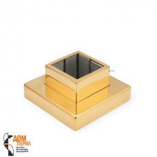 Фланец цанговый для поручня 40х40 мм «под золото»