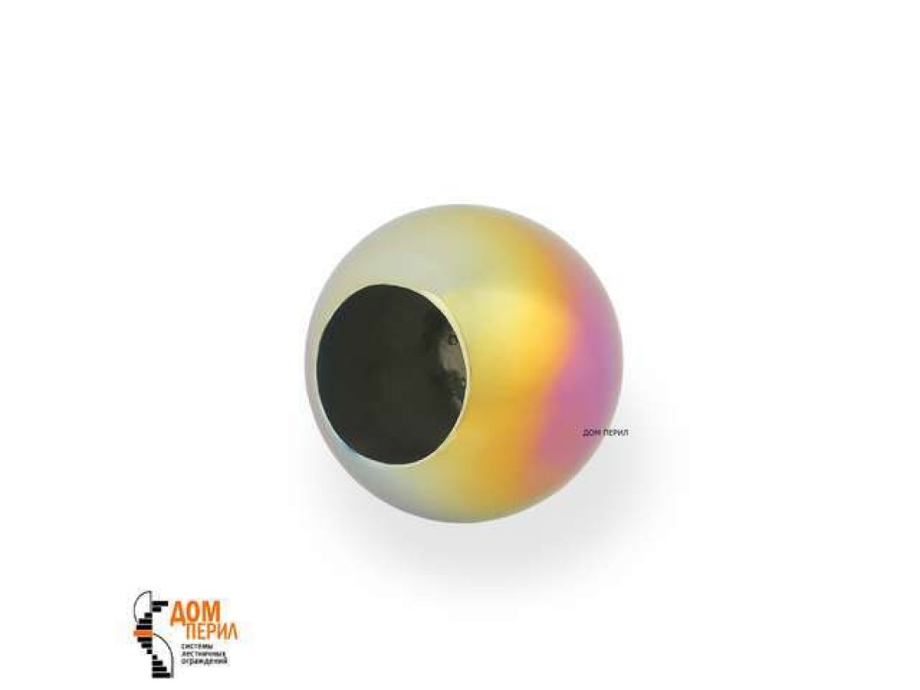 "Заглушка ""Шар"" для ригеля ∅12 мм (цветной перламутр)"