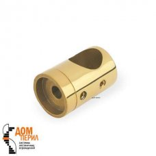 "Кронштейн ""Бочка"" для ригеля ∅16 мм под плоскость (под золото)"