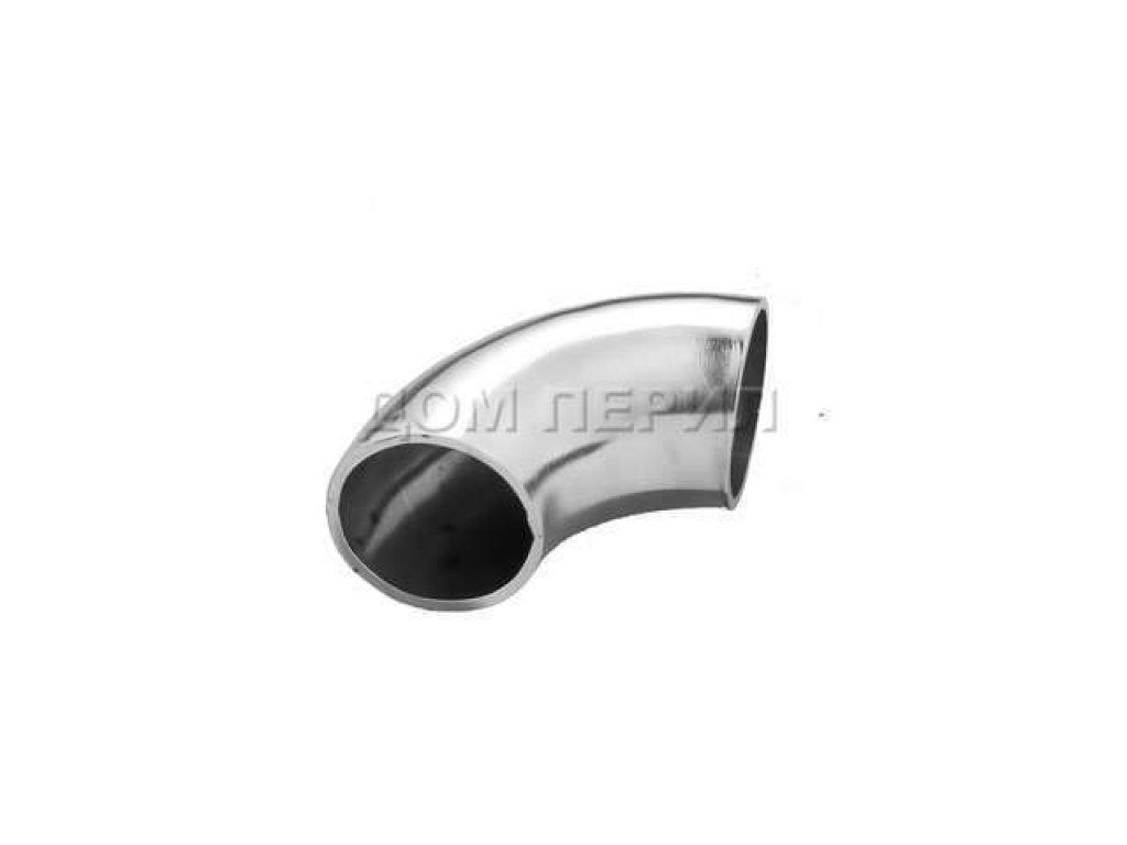 Отвод нержавеющий сварной для поручня ∅25 мм