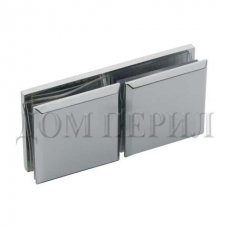 Коннектор стекло-стекло 180 хром арт.MT-035/B cp