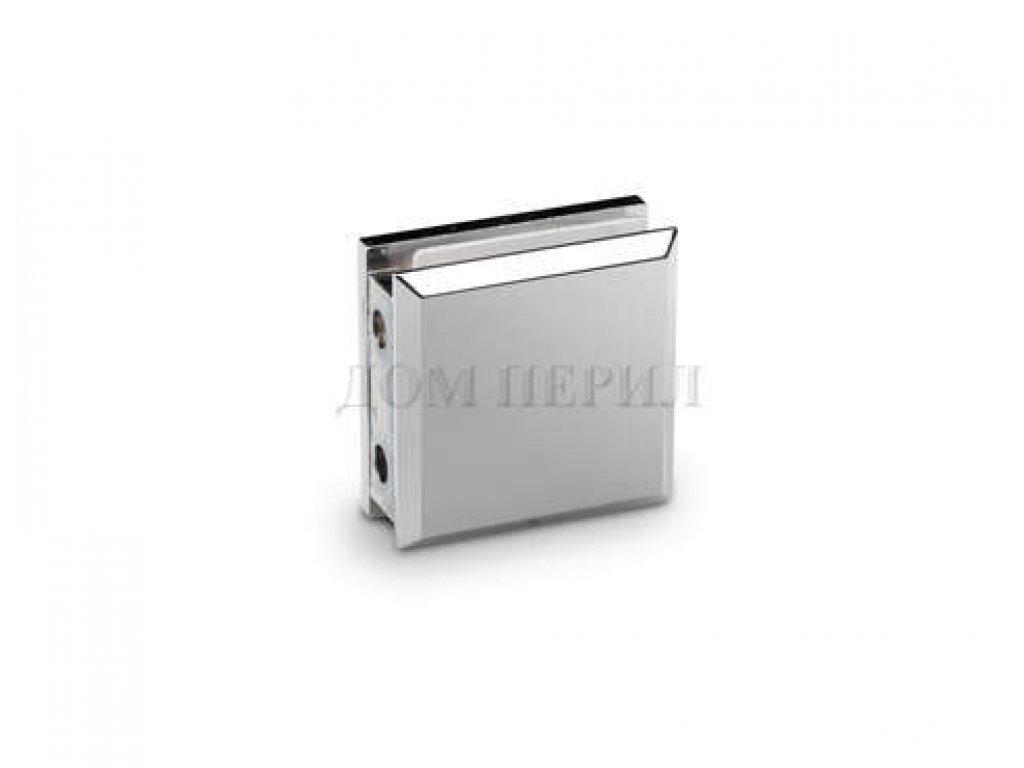 Коннектор стекло-стена (два отверстия) хром