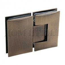 Петля 180 гр. стекло-стекло бронза арт.MT-213/S br
