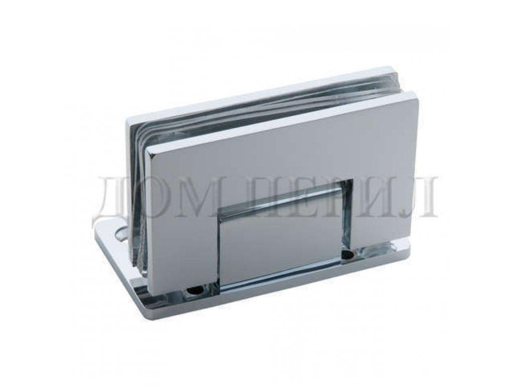 Петля 90 гр. стекло-стена односторонняя хром