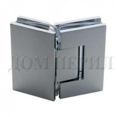 Петля 135 гр. стекло-стекло хром