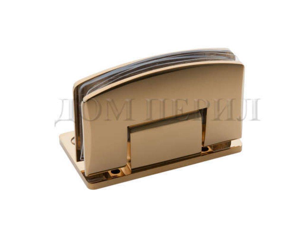 Петля 90 гр. стекло-стена односторонняя золото