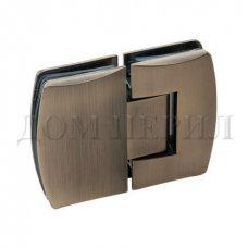 Петля 180 гр. стекло-стекло бронза арт.MT-513/S br