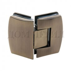 Петля 135 гр. стекло-стекло бронза арт.MT-514/S br