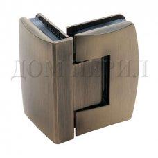 Петля 90 гр. стекло-стекло бронза арт.MT-515/S br