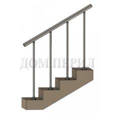 """Ограждение сварное с вертикальным заполнением """"стойка на ступень"""""""