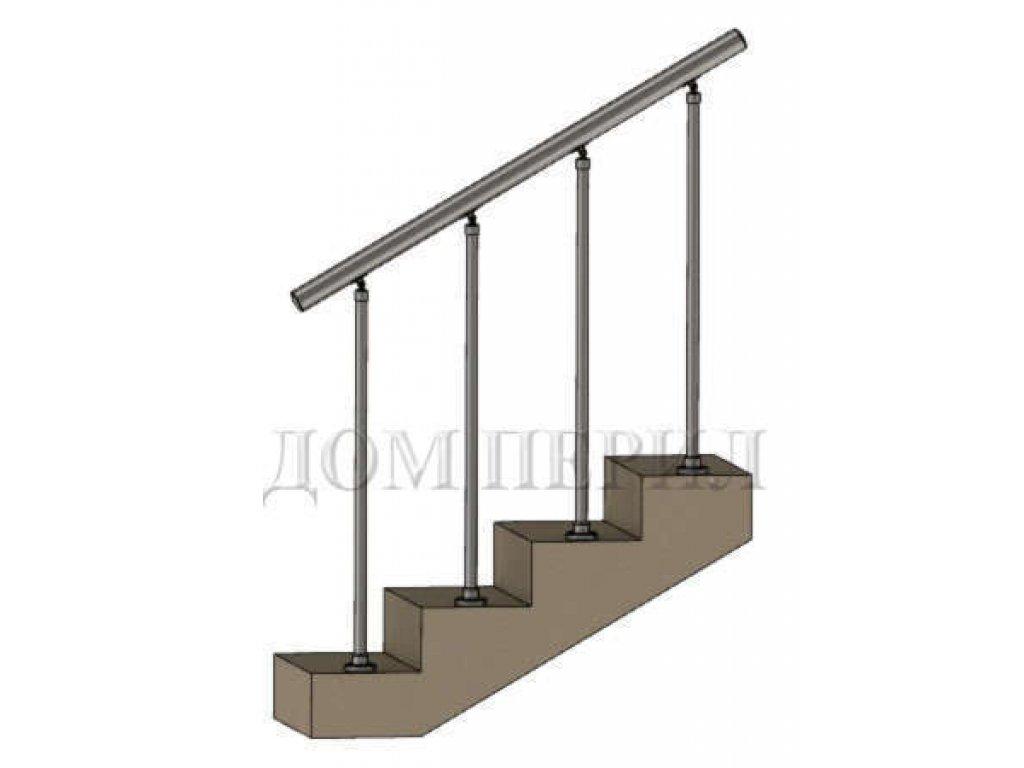 """Ограждение сборное с вертикальным заполнением """"стойка на ступень"""""""