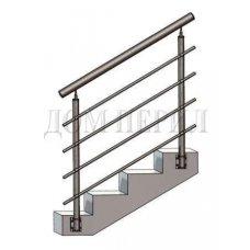 Перила из нержавеющей стали (нержавейки) № 13 (боковое крепление)