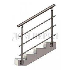 Перила из нержавеющей стали (нержавейки) № 15 (боковое крепление)