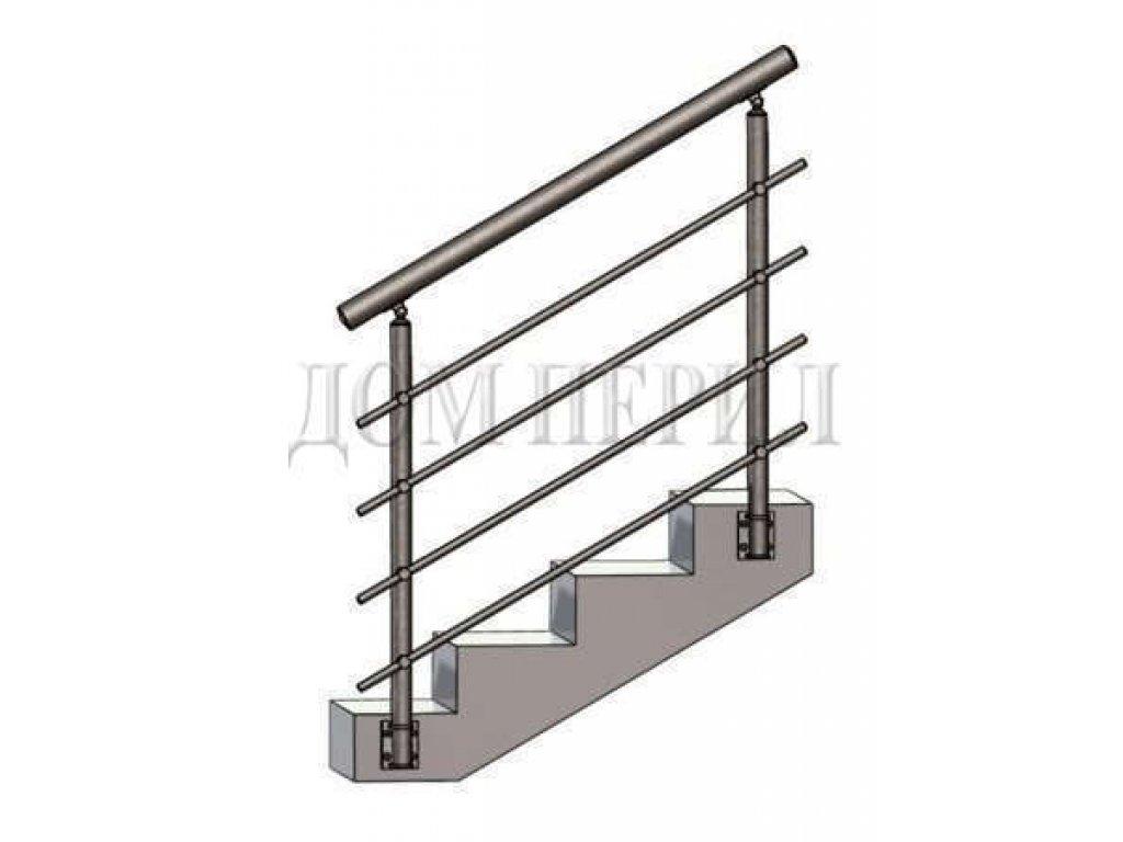 Перила из нержавеющей стали (нержавейки) 10 (боковое крепление)