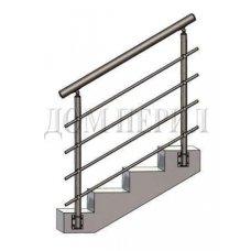 Перила из нержавеющей стали (нержавейки) № 19 (боковое крепление)