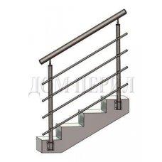 Перила из нержавеющей стали (нержавейки) № 7 (боковое крепление)