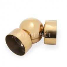 Шарнир для пластикового поручня (под золото)
