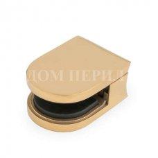 Стеклодержатель полированный под стекло s=8мм для стойки ∅50,8 мм (под золото) арт.СТ 07