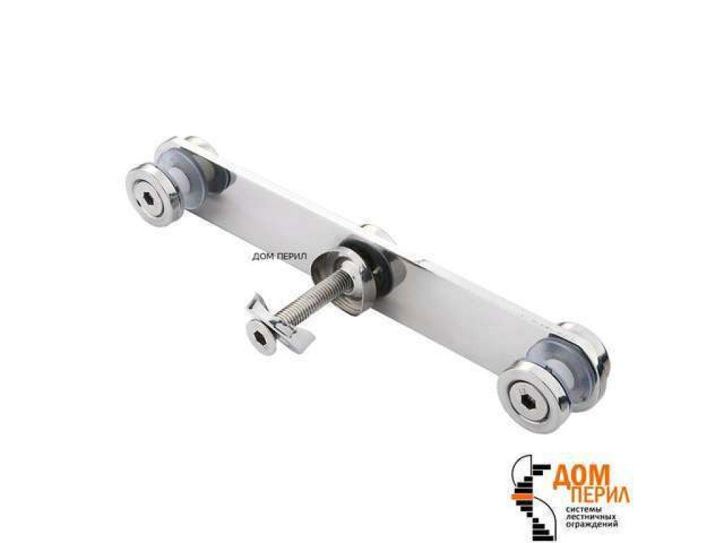 Стеклодержатель плоский двойной для стойки ∅38 мм