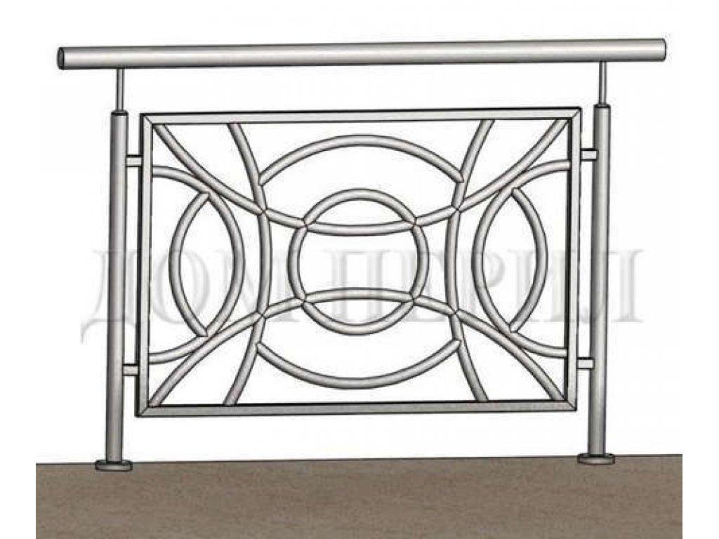 ПЕРИЛА 40 (Полукруглые арки). Заполнение - Труба 25 мм